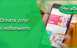 Оплатить номер мегафон с банковской карты