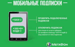 Отменить мобильную подписку мегафон